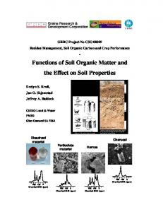 Functions of Soil Organic Matter and the Effect on Soil Properties