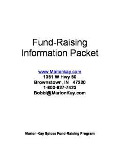 Fund-Raising Information Packet