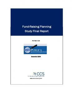 Fund-Raising Planning Study Final Report