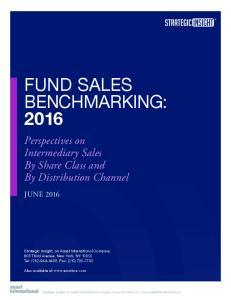 FUND SALES BENCHMARKING: 2016