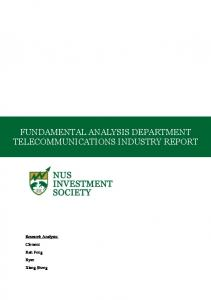FUNDAMENTAL ANALYSIS DEPARTMENT TELECOMMUNICATIONS INDUSTRY REPORT