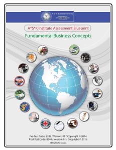 Fundamental Business Concepts