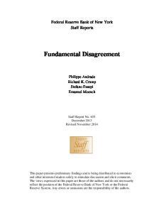 Fundamental Disagreement