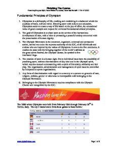 Fundamental Principles of Olympism