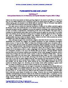 FUNDAMENTALISM AND JIHAD*