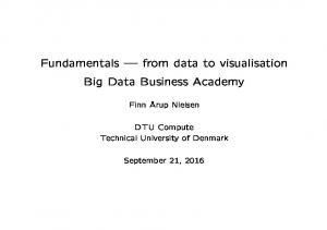 Fundamentals from data to visualisation Big Data Business Academy