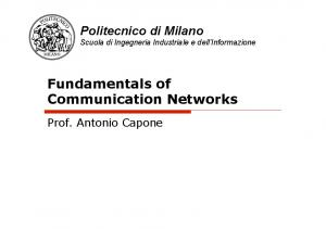 Fundamentals of Communication Networks