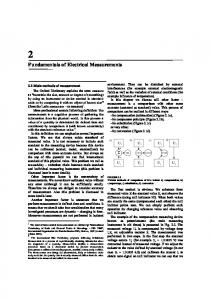 Fundamentals of Electrical Measurements