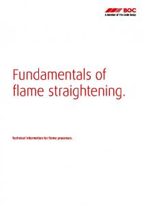 Fundamentals of flame straightening. Technical information for flame processes
