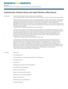 Fundamentals of Islamic Money and Capital Markets. Wiley Finance