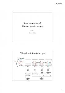 Fundamentals of Raman spectroscopy