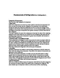 Fundamentals of Refrigeration Part 3 Refrigeration 2
