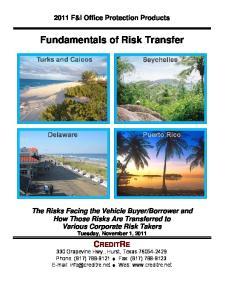 Fundamentals of Risk Transfer