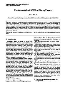 Fundamentals of SCUBA-Diving Physics