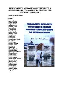 FUNDAMENTOS BIOLOGICOS, ECONOMICOS Y SOCIALES PARA UNA CORRECTA GESTION DEL RECURSO PEJERREY