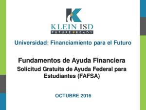 Fundamentos de Ayuda Financiera