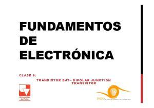 FUNDAMENTOS DE CLASE 4: TRANSISTOR BJT BIPOLAR JUNCTION TRANSISTOR