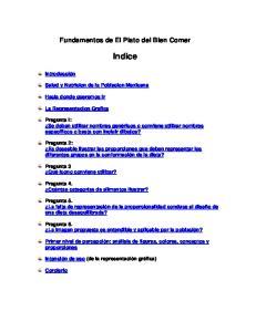 Fundamentos de El Plato del Bien Comer. Indice
