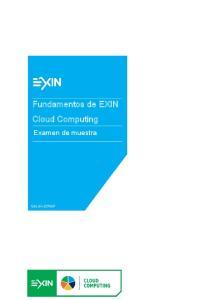 Fundamentos de EXIN Cloud Computing
