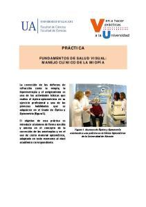 FUNDAMENTOS DE SALUD VISUAL: MANEJO CLÍNICO DE LA MIOPÍA