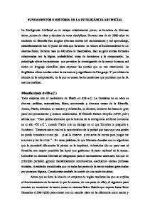 FUNDAMENTOS E HISTORIA DE LA INTELIGENCIA ARTIFICIAL