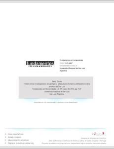 Fundamentos en Humanidades ISSN: Universidad Nacional de San Luis Argentina