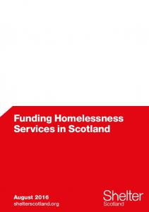 Funding Homelessness Services in Scotland