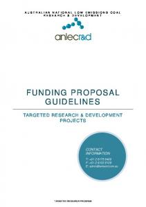 FUNDING PROPOSAL GUIDELINES