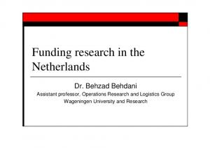 Funding research in the Netherlands