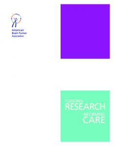 FUNDING RESEARCH INFORMING CARE