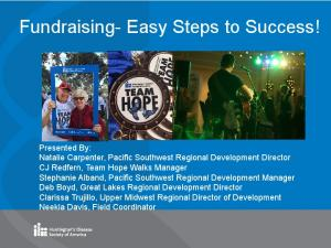 Fundraising- Easy Steps to Success!