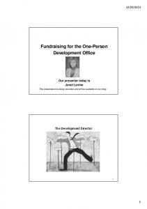 Fundraising for the One-Person Development Office