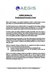 FUNDS IN MALTA Professional Investor Fund
