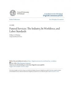 Funeral Services: The Industry, Its Workforce, and Labor Standards