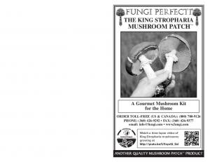 fungi perfecti THE KING STROPHARIA MUSHROOM PATCH A Gourmet Mushroom Kit for the Home