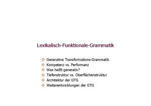 Funktionale-Grammatik