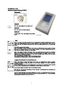 Funktions- und Bedienungsanleitung GTM II