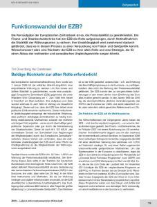 Funktionswandel der EZB?