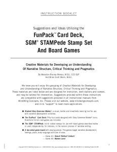 FunPack Card Deck, SGM STAMPede Stamp Set And Board Games