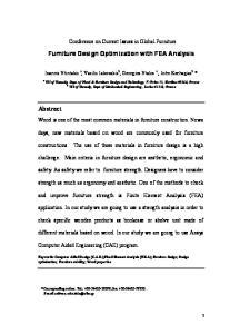 Furniture Design Optimization with FEA Analysis