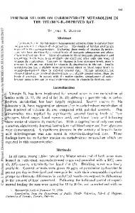 FURTHER STUDIES ON CARBOHYDRATE METABOLISM IN THE VITAMIN-B6-DEPRIVED RAT' Abstract