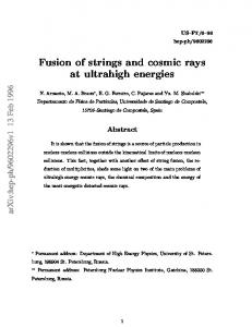 Fusion of strings and cosmic rays at ultrahigh energies
