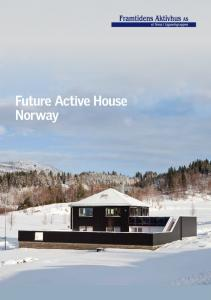 Future Active House Norway