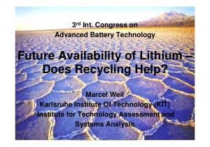 Future Availability of Lithium Does Recycling Help?