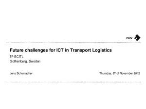 Future challenges for ICT in Transport Logistics