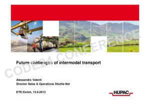 Future challenges of intermodal transport