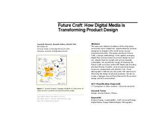 Future Craft: How Digital Media is Transforming Product Design
