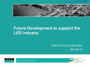 Future Development to support the LED industry