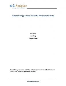 Future Energy Trends and GHG Emissions for India