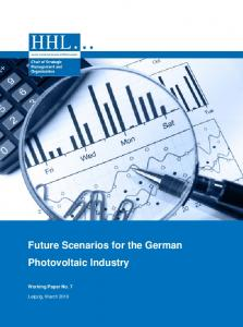 Future Scenarios for the German Photovoltaic Industry
